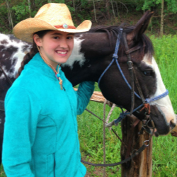 Abby, the writer's daughter, and her horse Breezy // © 2014 Lisa McElroy