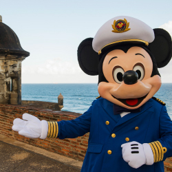 Kids can hang with Mickey in San Juan, Puerto Rico, on a Disney Cruise Line ship. // © 2015 Disney