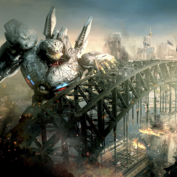 "Six Flags' new ride is based on the 2013 science-fiction film ""Pacific Rim."" // © 2016 2013 Warner Bros."