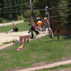 The new Golden Eagle Zipline at Vail Mountain // © 2016 Vail Mountain