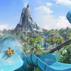 Guests staying at the resort will receive early admission to parks, including Volcano Bay waterpark. // © 2016 Universal Studios
