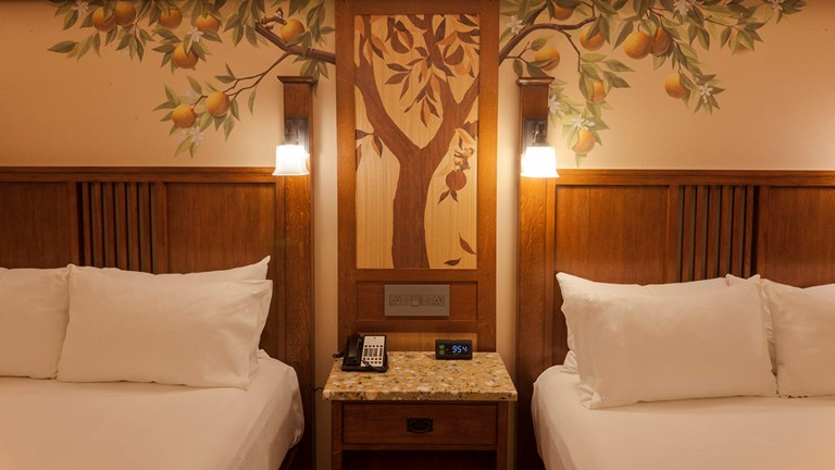 The new guestroom design brings a contemporary approach to the Arts and Crafts style of Disney's Grand Californian.