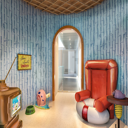 <p>Expect a replica of SpongeBob SquarePants' living room. // © 2016 Nickelodeon Hotels & Resorts Punta Cana</p><p>Feature image (above): Themed...