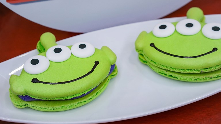 Favorite Pixar pals and stories are inspiring delicious treats like alien macarons.