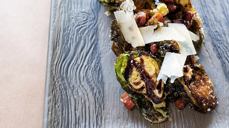 Rocksalt caters to all appetites with its small plates such as Brussels sprouts with pancetta and parmesan.