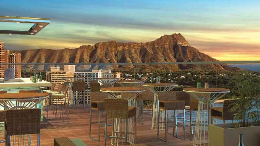 Skybar Waikiki will be Hawaii's highest lounge when it opens this summer. // © 2014 Skybar Waikiki 2