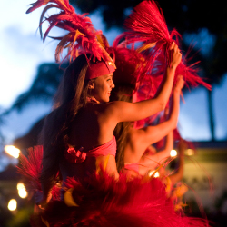 <p>Shopping centers on Kauai present free Polynesian dance shows. // © 2014 Poipu Shopping Village</p><p>Feature image (above): Kauai lays claim to 50...
