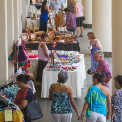 <p>Artisans sell their wares at Festival of Aloha. // © 2015 Anianiku Chong</p><p>Feature image (above): Kona Coffee Cultural Festival offers hands-on...