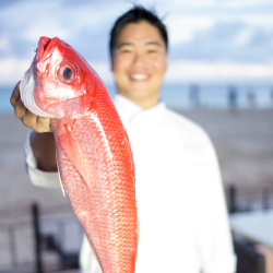 "<p>Royal Hawaiian chef Colin Hazama presents ""Fanta-Sea,"" a series of table-to-farm events in 2016. // © 2016 Lenny Kaholo</p><p>Feature image..."