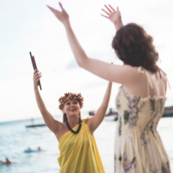 <p>Outrigger's Signature Experiences program includes a sunset ceremony drawing from Hawaiian traditions. // © 2017 Outrigger Hotels &...