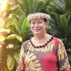 <p>Luana Maitland, director of cultural events and activities at Outrigger Reef and Outrigger Waikiki // © 2017 Outrigger Hotels and...