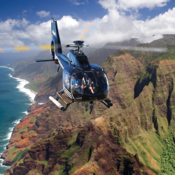 <p>Enjoy beautiful views of remote treasures from above. // © 2017 Sunshine Helicopters</p><p>Feature image (above): Kauai's Napali Coast // © 2017...