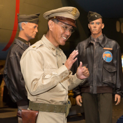 <p>Laughlin Tanaka shares lively insights during the Aviator's Tour. // © 2018 Pacific Aviation Museum Pearl Harbor</p><p>Feature image (above): On...