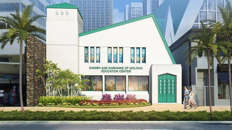 The new Damien & Marianne of Molokai Education Center will be an inspiring attraction in the heart of Waikiki.