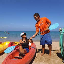 <p>Ocean Sports staffers are on hand to help guests enjoy various water toys during Aloha Days at the Beach. // © 2016 Ocean Sports</p><p>Feature...