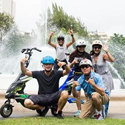<p> Aloha Trikke offers travel agents a fun new Waikiki activity to pitch to their clients. // © 2018 Aloha Trikke</p><p>Feature image (above): Guests...