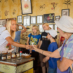 <p>The Big Island Bees tour concludes with a sampling of organic honey. // © 2015 Jeremy Chien</p><p>Feature image (above): During a beekeeping...