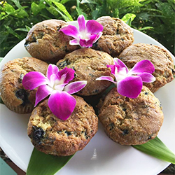 <p>On Kauai, Sweet Marie's assortment of gluten-free goodies includes blueberry muffins. // © 2016 Sweet Marie's</p><p>Feature image (above): At...