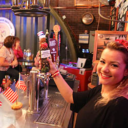 <p>The USO ambience of Oahu's Home of the Brave Brewing Co. underscores its patriotic theme. // © 2016 www.hotbbc</p><p>Feature image (above): On...