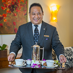 <p>The St. Regis Princeville Resort suite guests can start each morning with customized coffee delivery by their dedicated butler. // © 2017 The St....