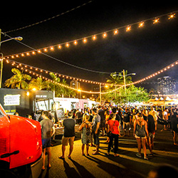 <p>Honolulu's Eat the Street food truck party takes place on the last Friday evening of each month. // © 2016 Street Grindz</p><p>Feature image...