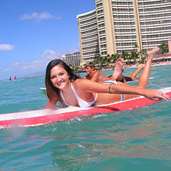 <p>Waikiki has a long history as a popular Oahu surfing spot. // © 2017 Waikiki Beach Services</p><p>Feature image (above): Hanalei Bay's calm...