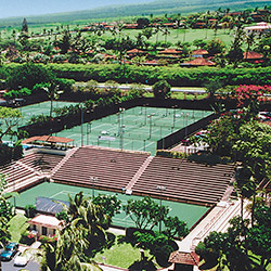 <p>Royal Lahaina Tennis Ranch features a 3,500-seat stadium court. // © 2014 Royal Lahaina Resort</p><p>Feature image (above): The Hawaii Tennis...