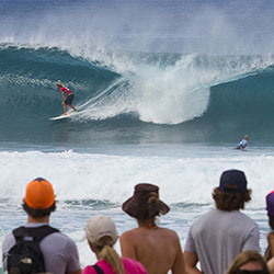 <p>During the Vans Triple Crown, John John Florence — one of the world's top surfers — puts on a show on Oahu's North Shore. // © 2016...