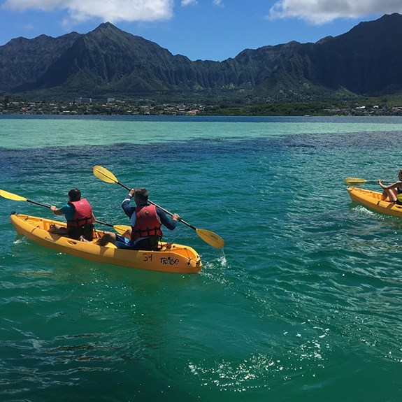 Exploring Kaneohe Bay With Holokai Kayak and Snorkel Adventures