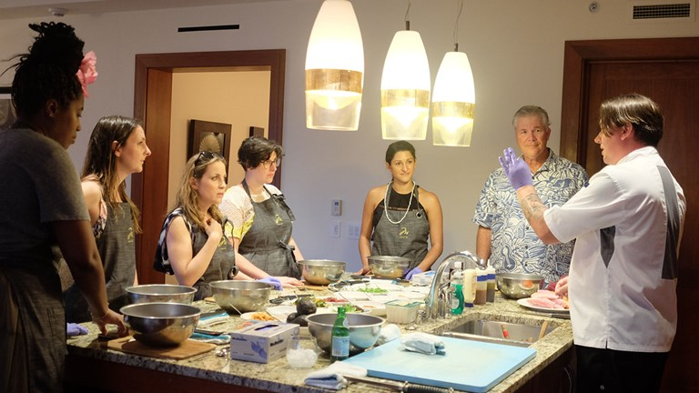 Montage Kapalua Bay guests can enhance their residential-style vacation with a new in-room cooking class.