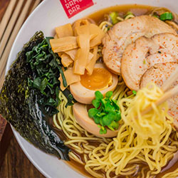 <p>The Ramen Bar, serving creative takes on the traditional Japanese noodle soup, is one of the food stations at The Street, Waikiki's new culinary...