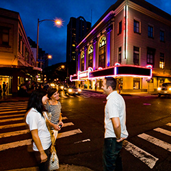 <p>Fun by day, Honolulu's Chinatown is equally vibrant at night. // © 2016 HTA Tor Johnson</p><p>Feature image (above): Free yoga classes are among...