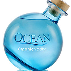 <p>Ocean Vodka's bottle turns heads with its distinctive tilt. // © 2017 Hawaii Sea Spirits</p><p>Feature image (above): Ocean Vodka Sampling.jpg:...