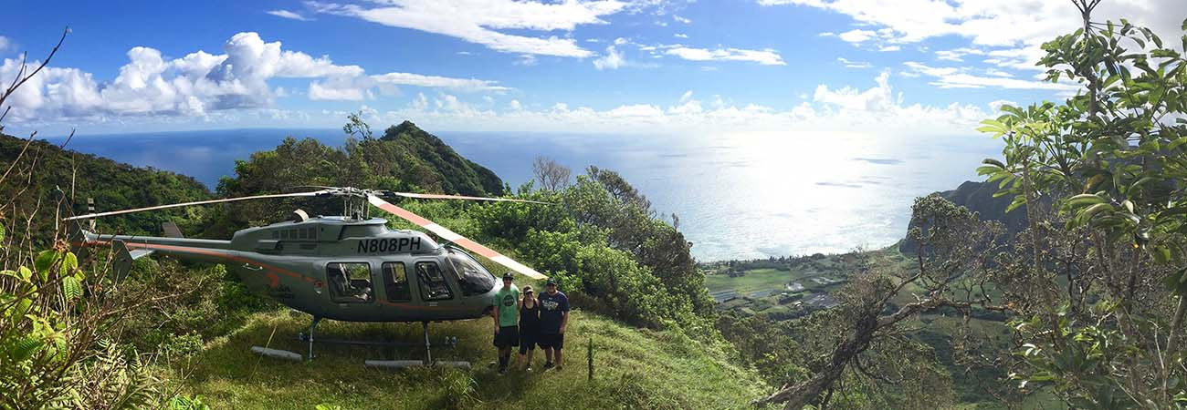 A Circle-Island Helicopter Tour Over Oahu