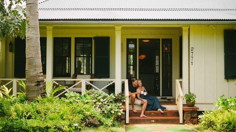 With its elegant vacation homes, Lodge at Kukuiula makes it easy for couples to connect with each other during a Kauai vacation.