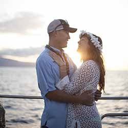 <p>A sunset cruise out of Lahaina Harbor creates memories that couples will cherish. // © 2016 Trilogy Excursions</p><p>Feature image (above): Lahaina...