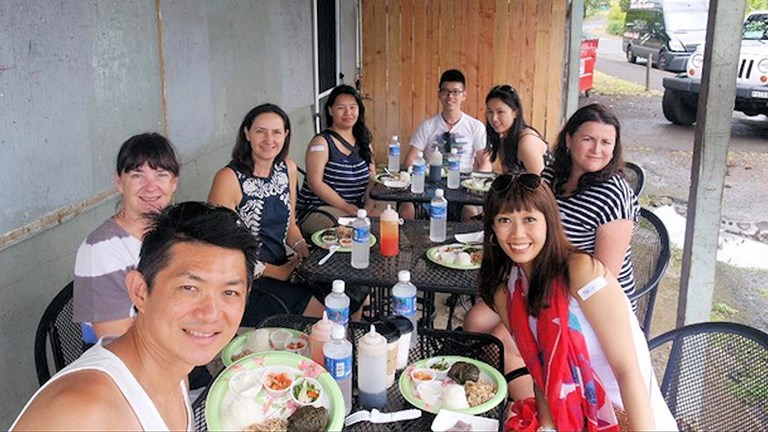 Hawaii Food Tours takes clients to down-home eateries for dishes from many cultures.