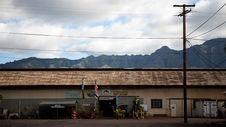 Waialua Sugar Mill has morphed from its former life as a factory to a lively showcase for North Shore businesses.