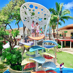 <p>Kids can't get enough of Whalers Village's new climbing structure. // © 2017 Whalers Village</p><p>Feature image (above): The renovated Whalers...