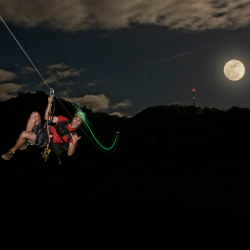 Koloa Zipline's nighttime tours include a ride on Kauai's longest zipline. // © 2014 Koloa Zipline