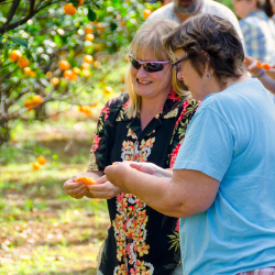 Guests try local fruit on a Tasting Kauai tour. // © 2014 Tasting Kauai