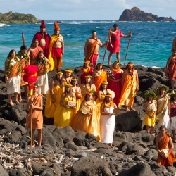 The Royal Court presides over Festivals of Aloha, Maui Nui Style. // © 2014 Barton Hrast
