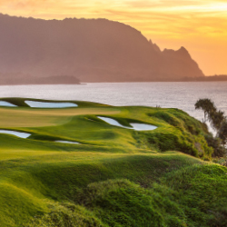 Princeville Makai Golf Club at sunset // © 2014 Princeville Makai Golf Club
