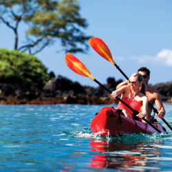 Free offerings this fall at Four Seasons Resort Maui at Wailea include outrigger canoeing. // © 2014 Four Seasons Hotels and Resorts