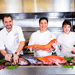 Royal Hawaiian chefs join forces to celebrate the hotel's 90th anniversary. // © 2017 The Royal Hawaiian, a Luxury Collection Resort