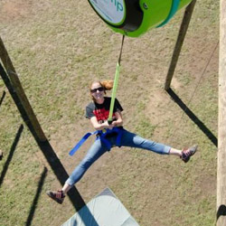 <p>Adventurous clients can leap from a 40-foot-high platform at the end of Piiholo Ranch Zipline's new Super Hero tour. // © 2014 Piioholo Ranch...