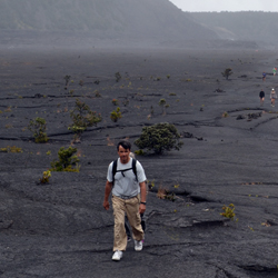 In between visits to Hilo and Kau, take a break from driving with a hike through the world-famous Hawaii Volcanoes National Park. // © 2013 Mindy...