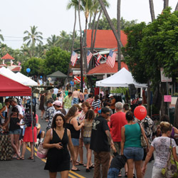 The pedestrian-friendly Kokua Kailua event is one of many fun options for visitors to Kailua Village. © // 2014 Kailua Village Business Improvement...