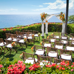 The private wedding lawn at Sheraton Maui. // © 2013 Sheraton Maui Resort and Spa