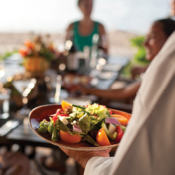 The Four Seasons Hualalai uses ingredients from Hawaii Island in its dishes. // © 2014 Don Riddles, Four Seasons